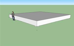 Фундамент с ростверком в виде плиты