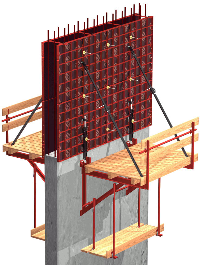 Výstavba budov v posuvných debneniach