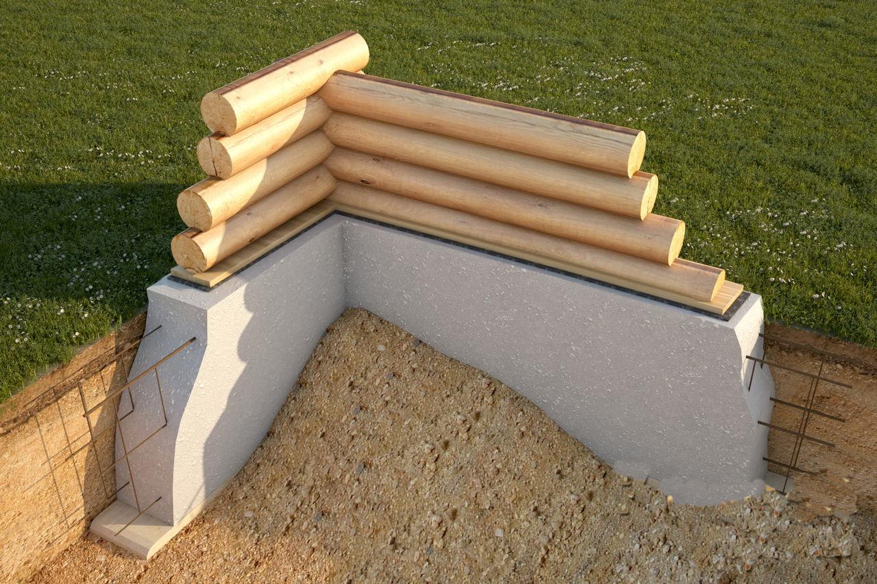 Фундамент деревянного дома своими руками фото