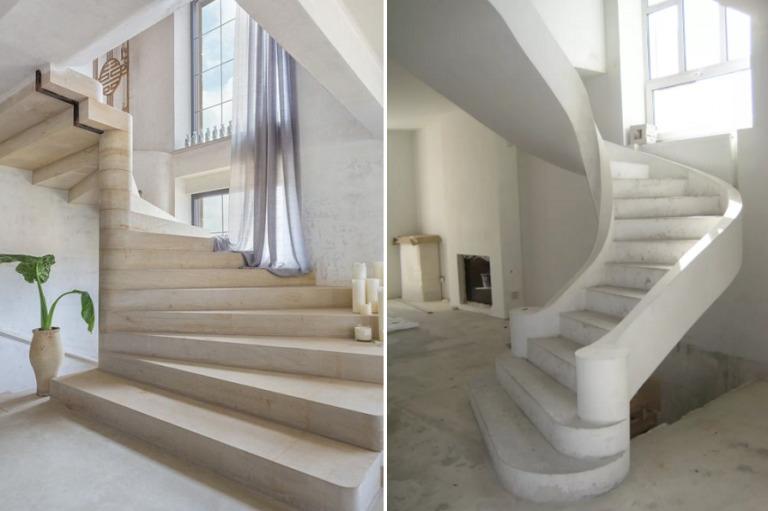 облицовка бетонной лестницы евроступень